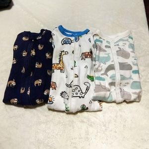 3 Pajamas, Size 6m